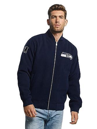 e8046ebed New Era Men Bomber Jackets Melton Seattle Seahawks  Amazon.co.uk  Clothing