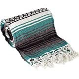 Canyon Creek Authentic Mexican Yoga Falsa Blanket (Teal)