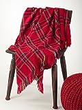 "Classic Red Plaid Design Throw Blanket, 50""x60"""