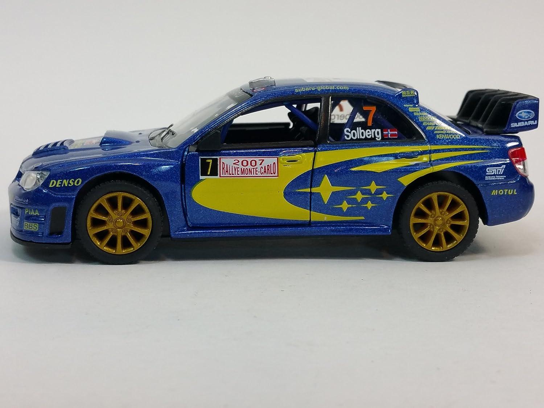 Kinsmart Blue 2007 Subaru Impreza WRC STI Rallye Monte Carlo #7 1//36 Scale Diecast Car 5328D-KIT-BLUE