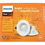 Philips Star Core LED Ceiling Light (Down Light) 3W Warm White - Round