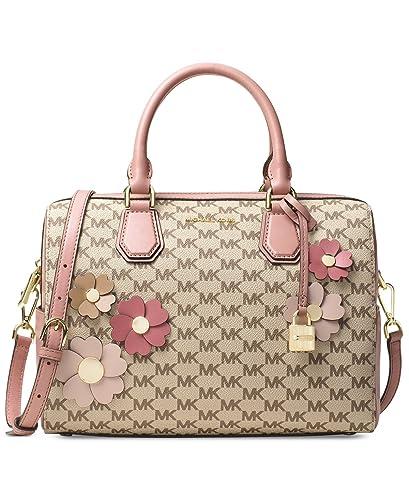 c0ef326a9e6e MICHAEL Michael Kors Flora Appliqué Mercer Medium Duffel Signature Bag,  Natural / Fawn: Handbags: Amazon.com