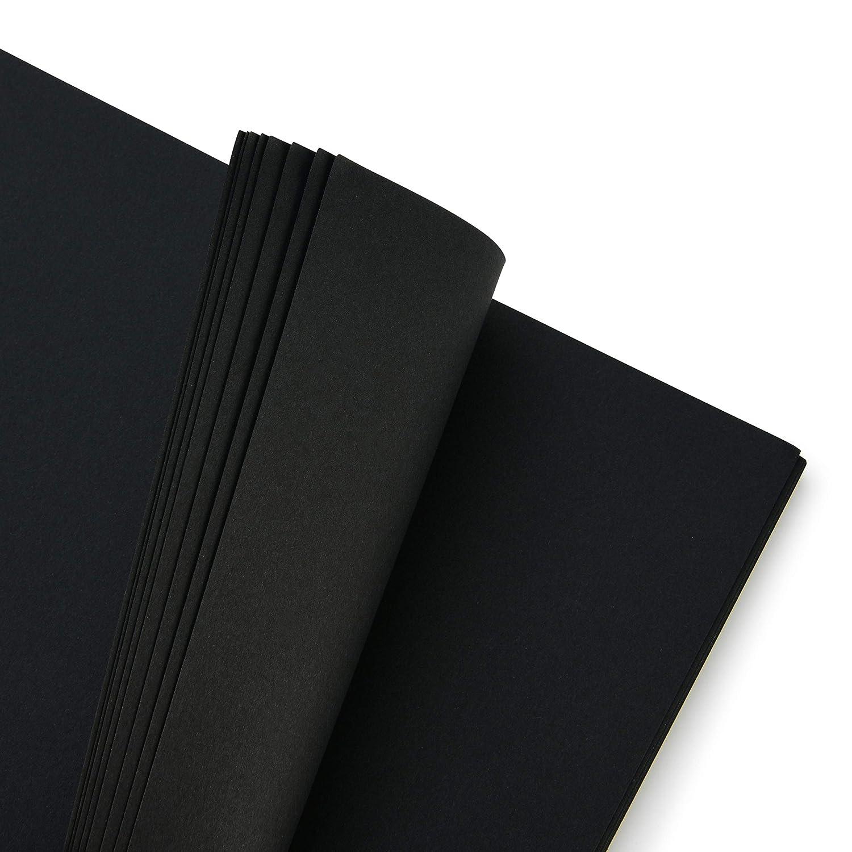 Blocco di Solida Carta Perforata Nera su Spirale Taccuino da Bozza con 32 Fogli Taccuino Bozze Nero