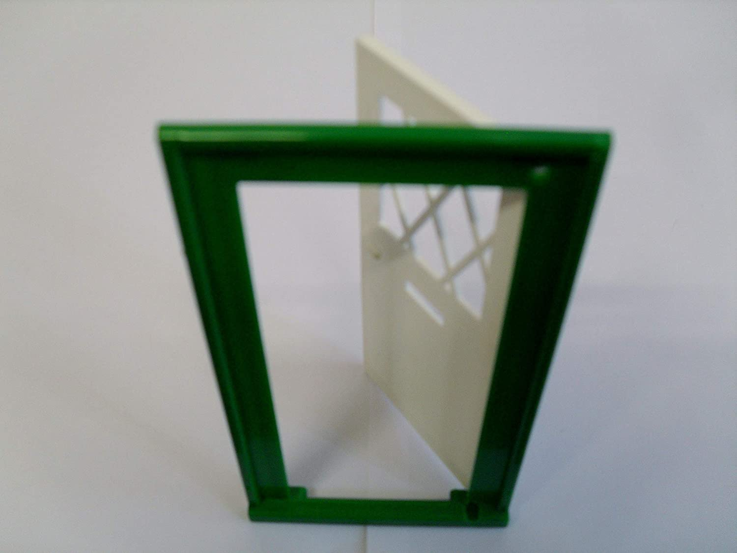 DOLLS HOUSE DOUBLE LATTICE WINDOW WHITE//GREEN 1//16 SCALE USE WITH FIXING PINS
