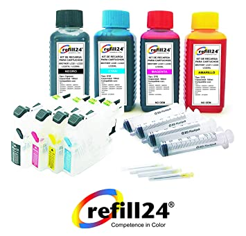 Cartuchos Recargables Brother 221, 223, 225XL, 227XL, 229XL Negro y Color, Incluye Accesorios + 400 ML Tinta
