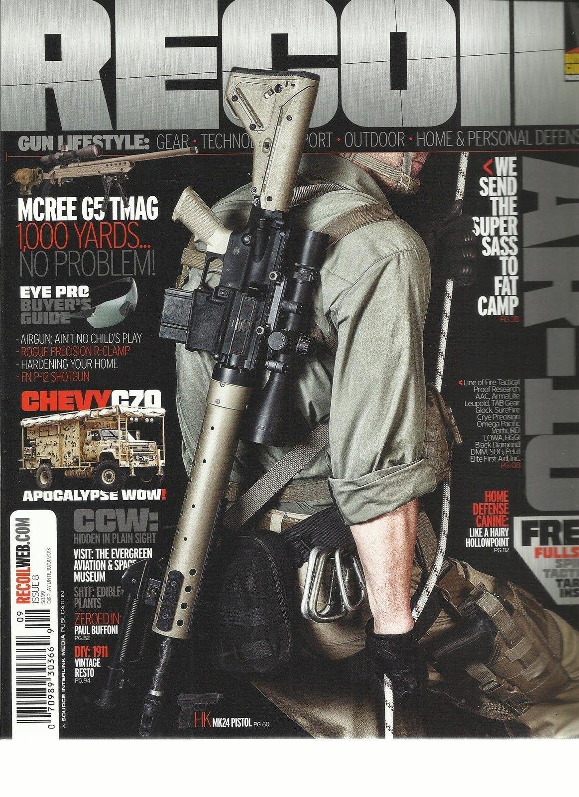 RECOIL, HOME & PERSONAL DEFENSE, ISSUE, 8 (WE SEND THE SUPER SASS TO FAT CAMP