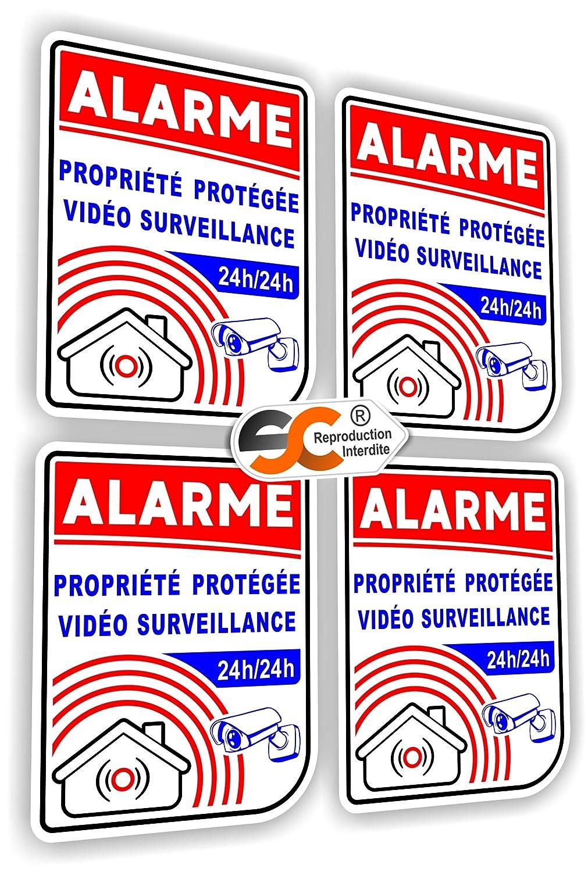 4x Bosch Haus Videoüberwachung Aufkleber Alarmanlage Einbruchschutz Objektschutz