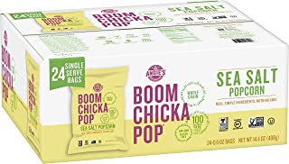 product image for Angie's BOOMCHICKAPOP Sea Salt Popcorn, 0.6 Ounce Bag, (Pack of 24)