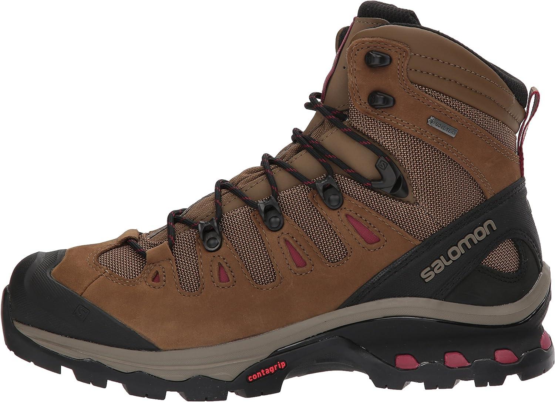 8.5 Teak//Teak//Tibetan Red Salomon Womens Quest 4D 3 GTX Backpacking Boots