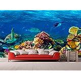 Fotomural Vinilo Pared Corales y Especies Fondo Marino | Fotomural para paredes | Mural | Vinilo