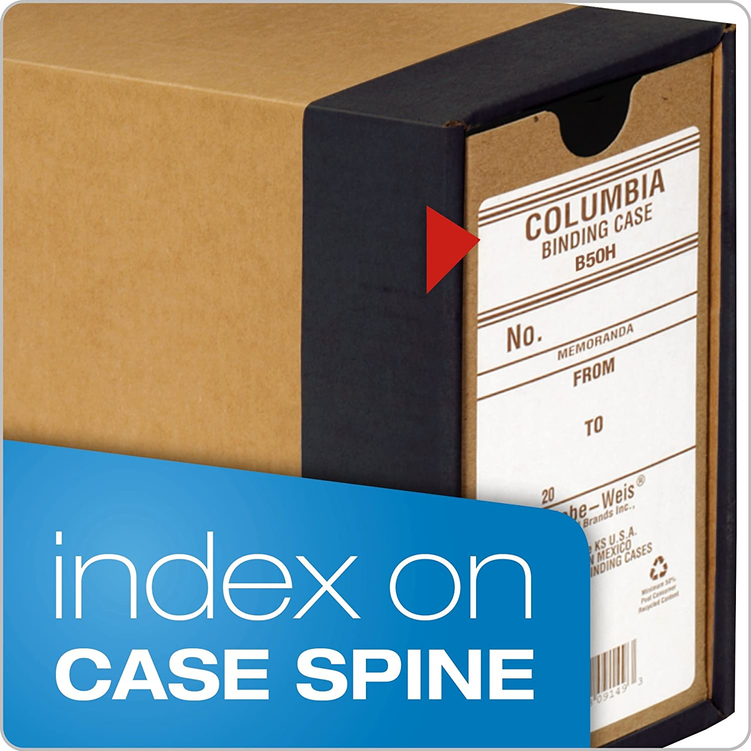Amazon.com: Globe-Weis Columbia Binding Case, Letter Size, High Arch, Each (B50H): Office Products