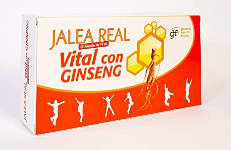 GHF Jalea Real Vital con Ginseng 20 ampollas 10 ml