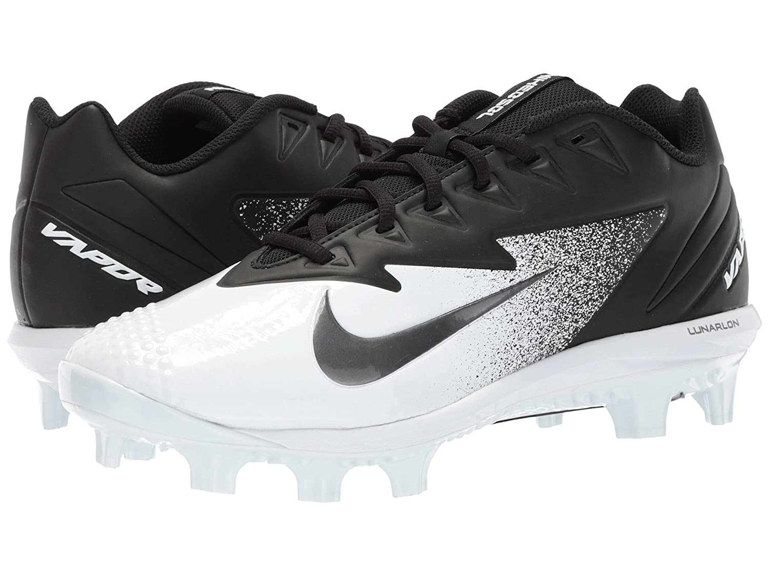 (ナイキ) NIKE メンズ野球ベースボールシューズ靴 Vapor Ultrafly Pro MCS Black/Metallic Silver/White 8.5 (26.5cm) D Medium B078Q2B7YC