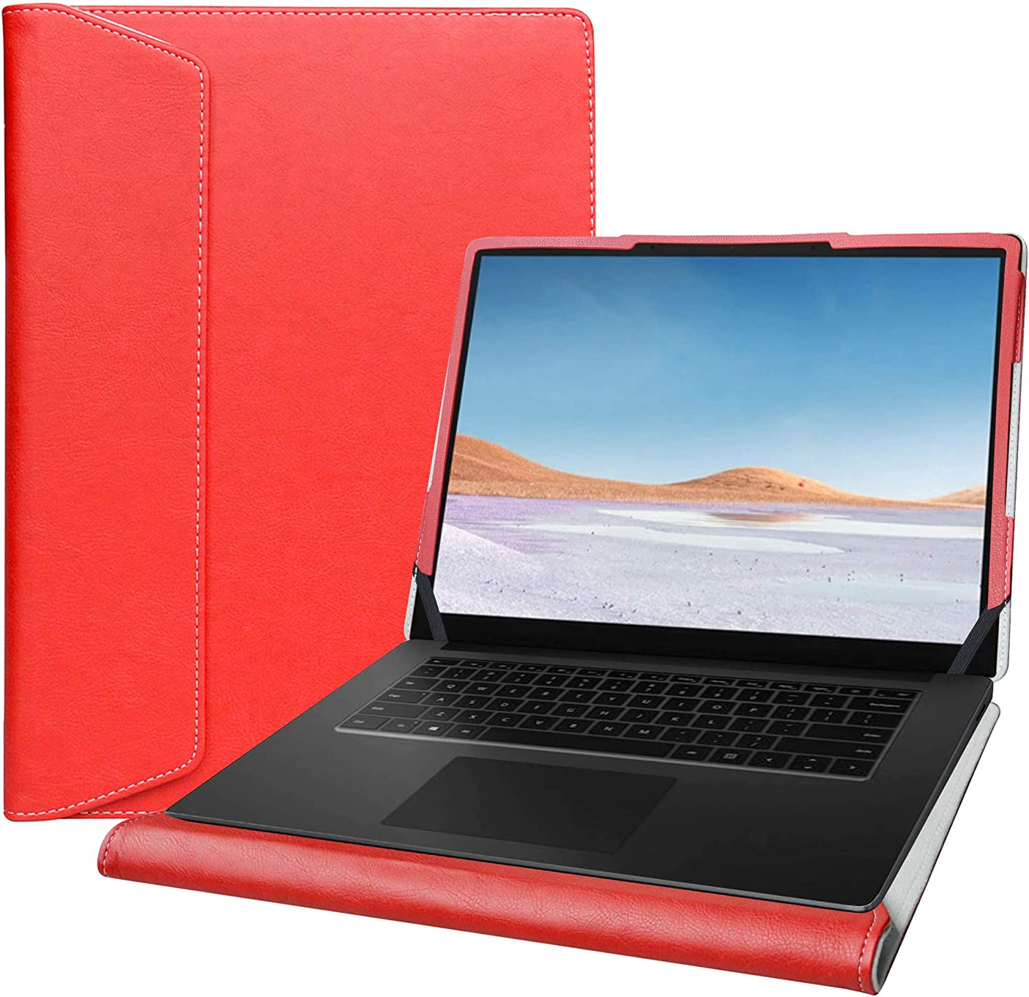 "Alapmk Protective Cover Case for 15"" Microsoft Surface Laptop 3 15 Series Laptop[Note:Not fit 13.5 inch Surface Laptop 1 2 3 and Surface Book],Red"