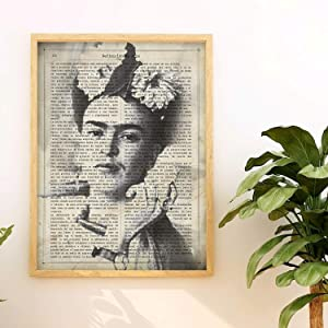 Nacnic Prints Frida Kahlo Definition of Art in Spanish,The Mexican Painter - Set of 1 - Unframed 11x17 inch Size - 250g Paper - Beautiful Poster Painting for Home Office Living Room