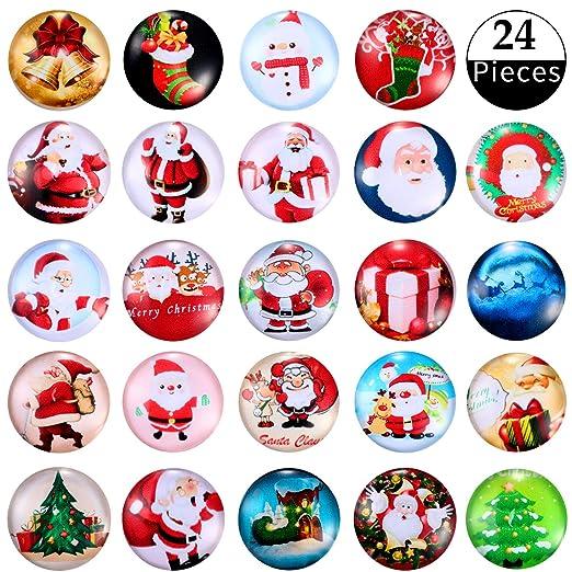 24 Imanes de Navidad Imanes de Nevera de Vidrio, Imanes de ...