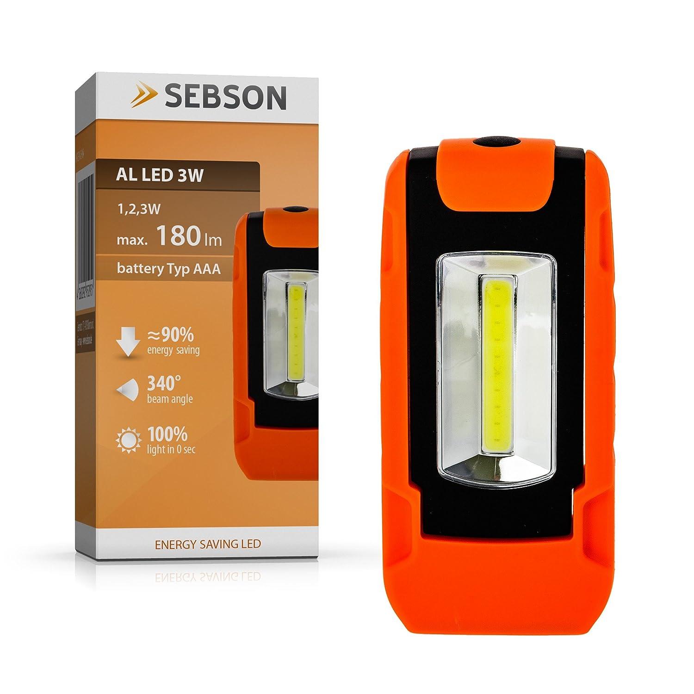 Sebson led arbeitsleuchte batteriebetrieben magnethalterung sebson led arbeitsleuchte batteriebetrieben magnethalterung werkstattlampe taschenlampe amazon beleuchtung parisarafo Gallery