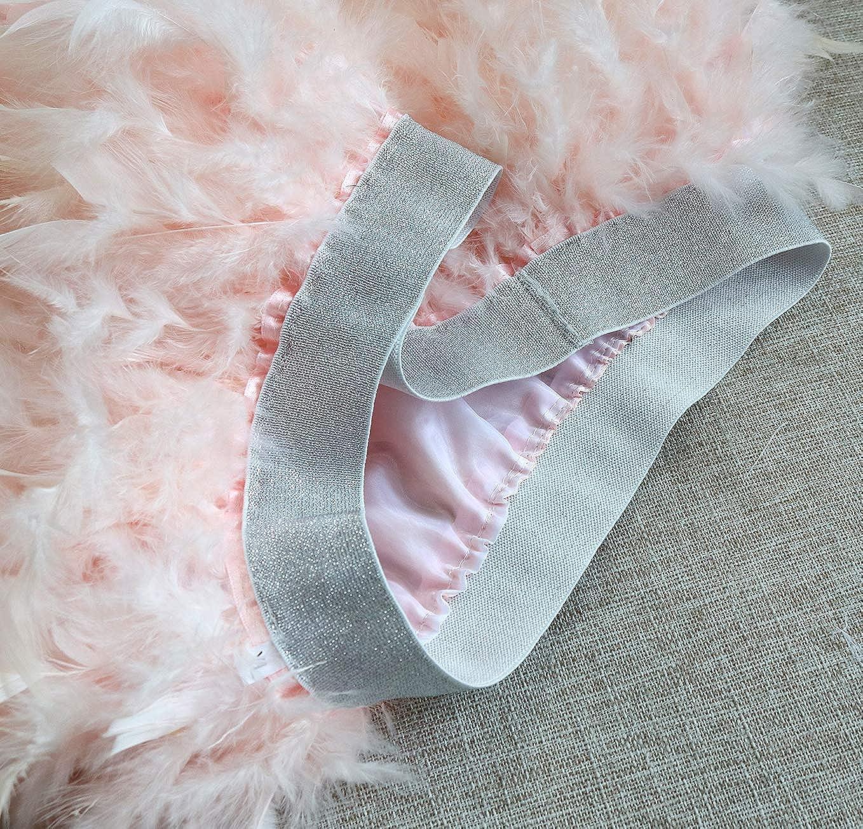 Minigonna con Piume Elasticizzate da Donna LVOW Gothic