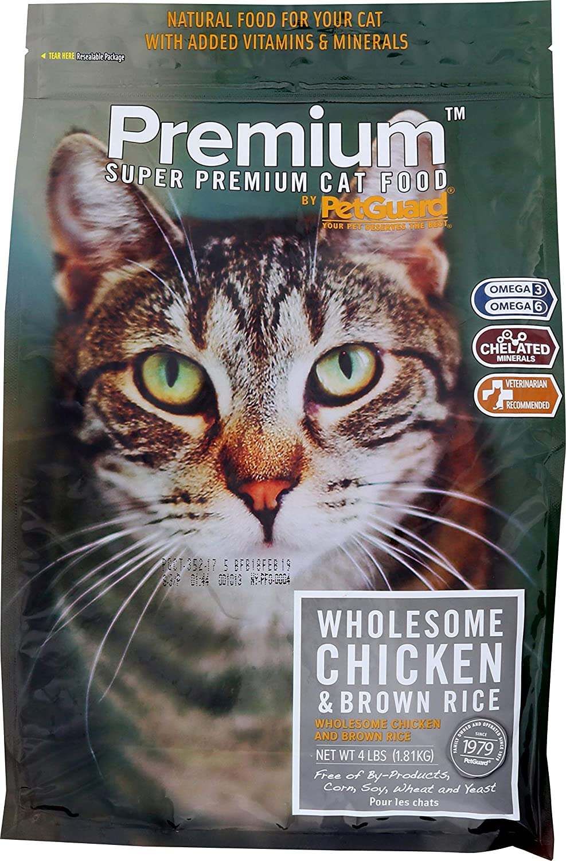 Comida para gatos de pollo PetGuard, seco, 4 libras: Amazon.es ...