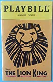 Color Playbill from The Lion King at the MINSKOFF
