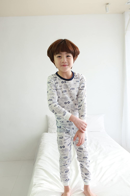 OllCHAENGi Toddler Kids Boys Girls Cotton Pajama Set Long Sleeve 3T-14Y Bulldozer