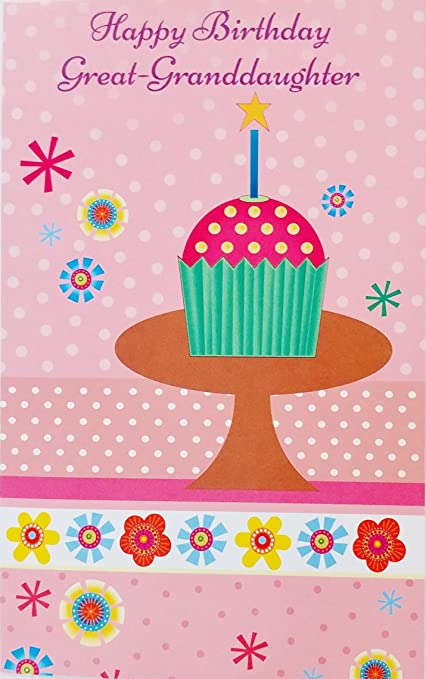 Image Unavailable Not Available For Color Happy Birthday Great Granddaughter Greeting Card