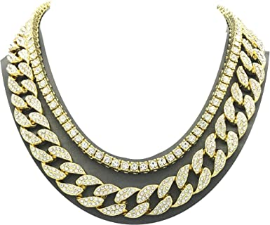 Unisex Men/'s Stainless Steel Cuban Hip Hop Link Chain Choker Necklace Jewelry