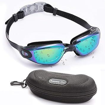 29d8bba8f4 Bezzee-Pro Gafas de Natación, Sin Fugas y Anti-Niebla - Gafas con ...