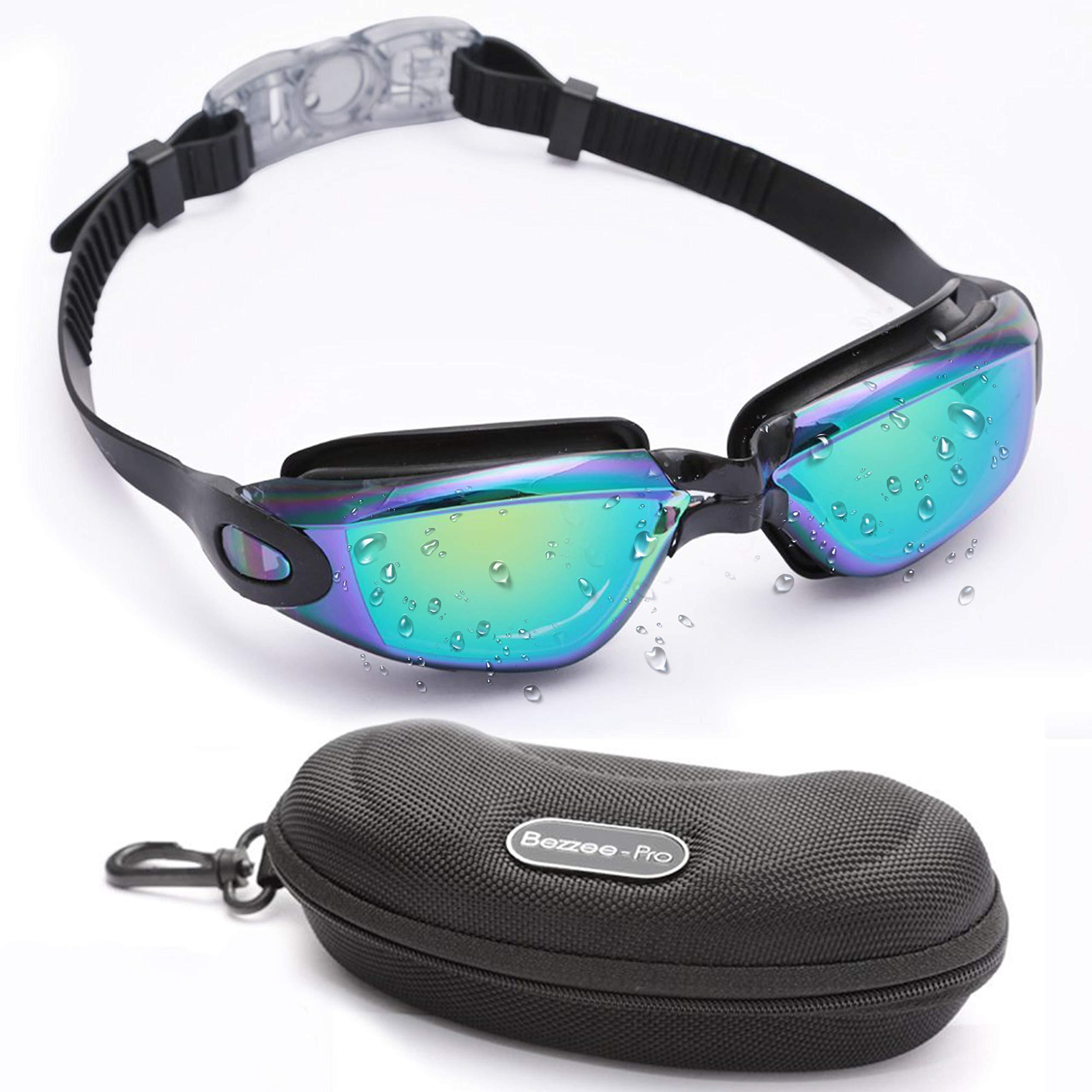 2c80d92ab2f8a Bezzee-Pro Schwimmbrille, Taucherbrille Wasserundurchlässig mit  Anti-Beschlag Beschichtung und Kostenlosem Schutz Etui