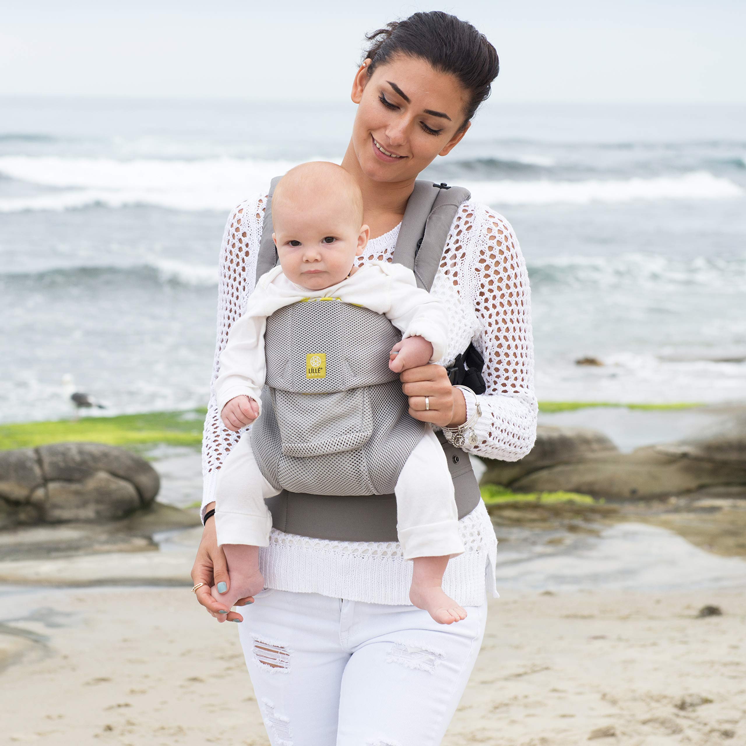 Lillebaby The Complete Airflow 360° Ergonomic Six-Position Baby & Child Carrier, Silver by LILLEbaby (Image #7)