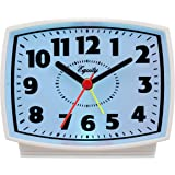 Equity by La Crosse 33100 Electric Silent Analog Alarm Clock with Lighted Dial, White