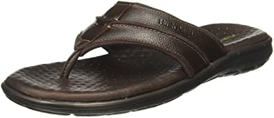 Hush Puppies Men's Charles Thong Leather Hawaii Thong Sandals Men's Fashion Sandals at amazon