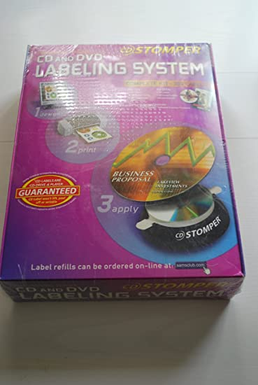 amazon com cd stomper cd dvd labeling system 380 labels and software
