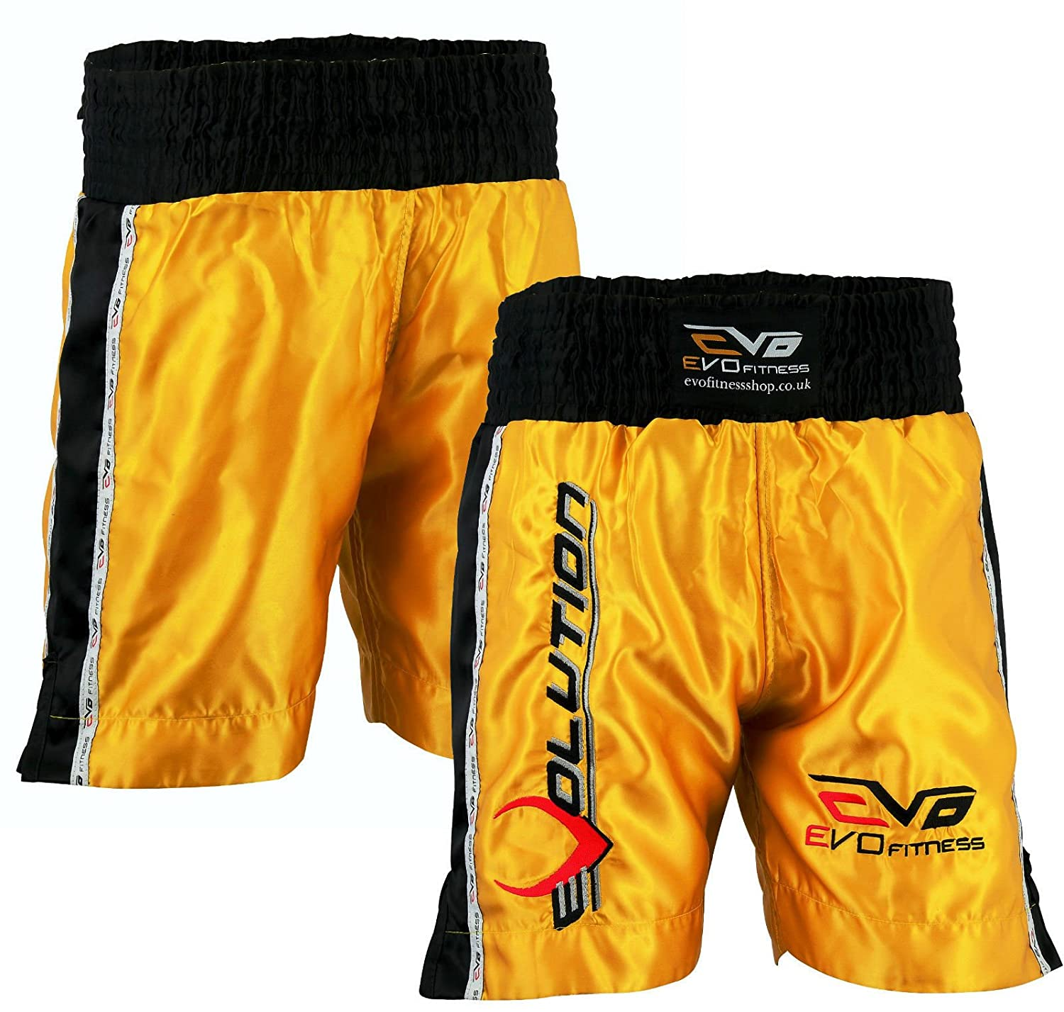 EVO Muay Thai Fight Shorts MMA Kick Boxing Grappling Martial Arts Gear Cage UFC