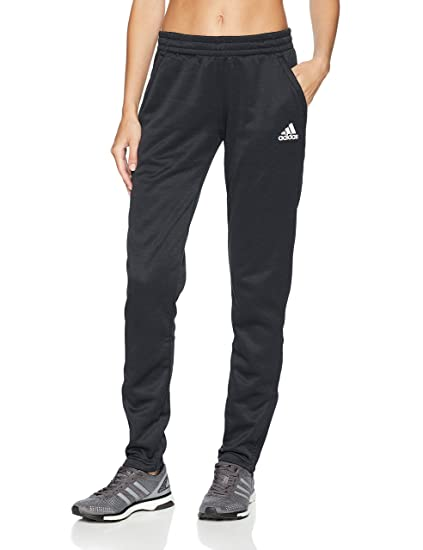 3f367a029 adidas Women's Athletics Team Issue Tapered Pant, Black Melange/White,  X-Small