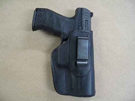 Walther PPQ 45 M2 IWB Leather In The Waistband Concealed Carry Holster  BLACK RH