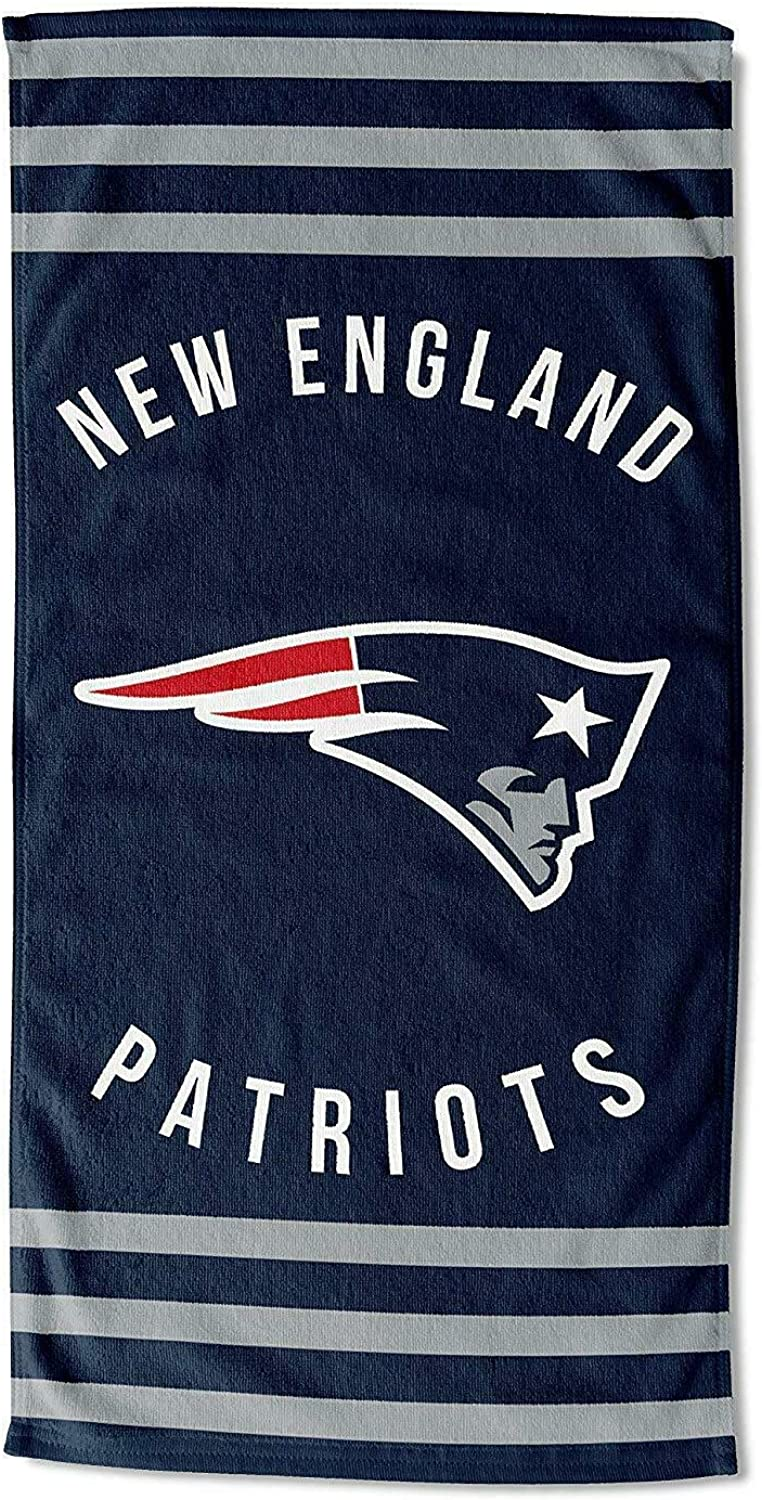 The Northwest Company NFL New England Patriots Striped Beach Towel, Blue, 30 x 60-inches