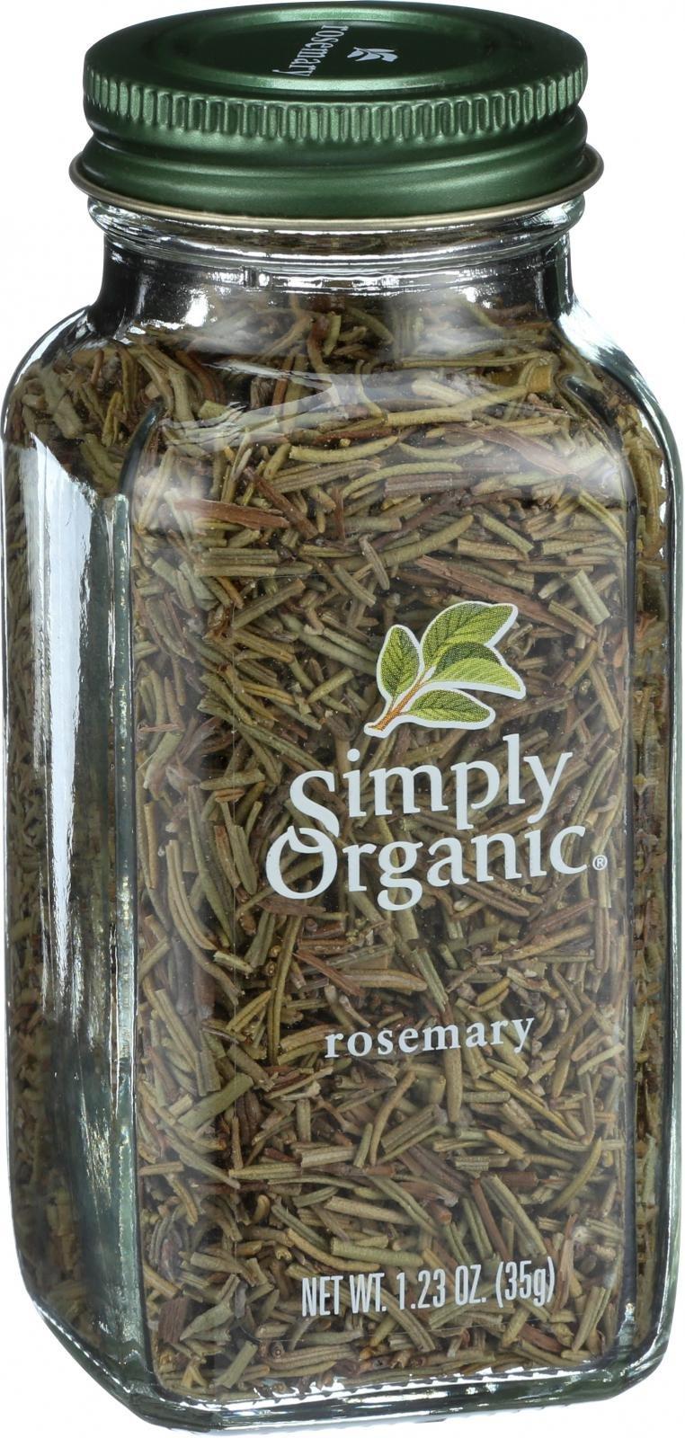 Simply Organic Rosemary Leaf- Organic - Whole - 1.23 oz - 95%+ Organic -