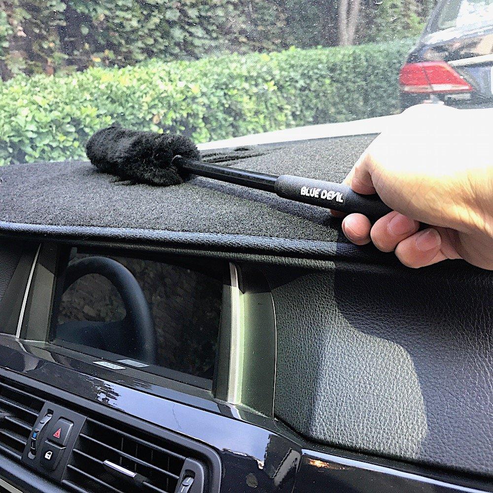 cepillo para ruedas 3 cepillos lana para ruedas para llantas de coche con empu/ñadura de goma para limpieza de ruedas y herramientas de detalle. DUMI: Kit de cepillos para rueda de lana 100 /% lana de cordero sin rasgu/ños