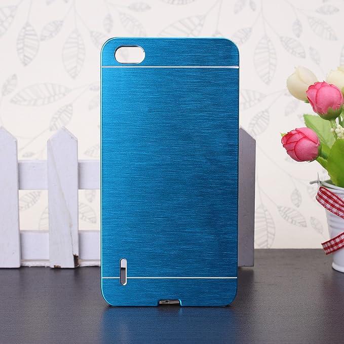 55 opinioni per Huawei Honor 6 Custodia, Wkae® lusso spazzolato copertura d'acciaio posteriore