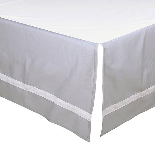 Grey Tailored Crib Dust Ruffle