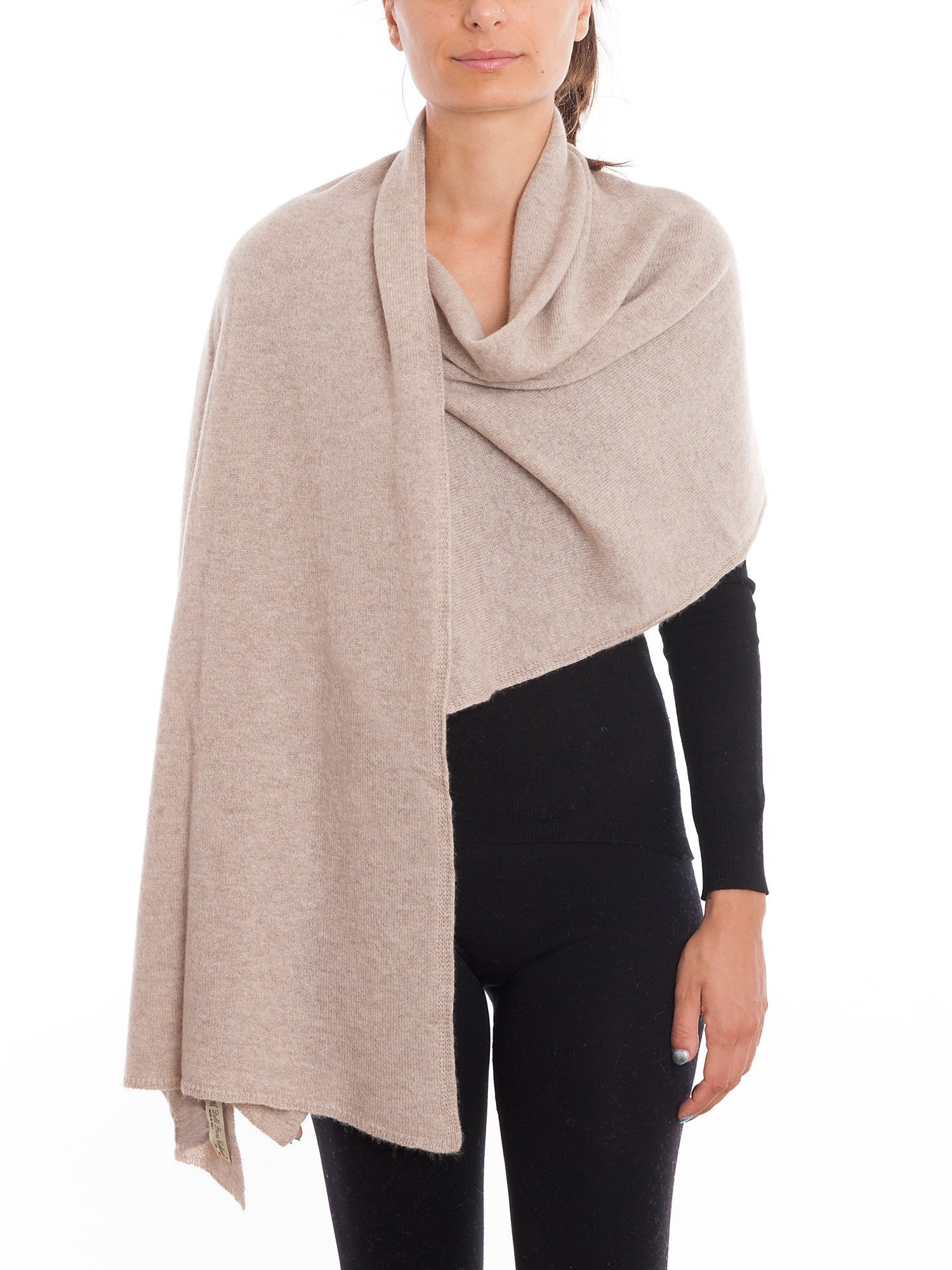 Dalle Piane Cashmere - Stole 100% cashmere - Made in Italy, Color: Beige, One size by DALLE PIANE CASHMERE