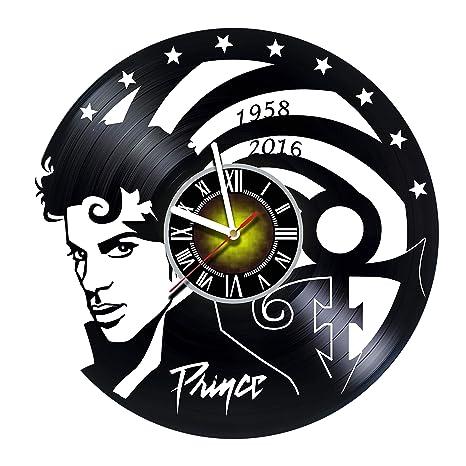 Amazon.com: Toffy Workshop Prince – Reloj de pared de vinilo ...