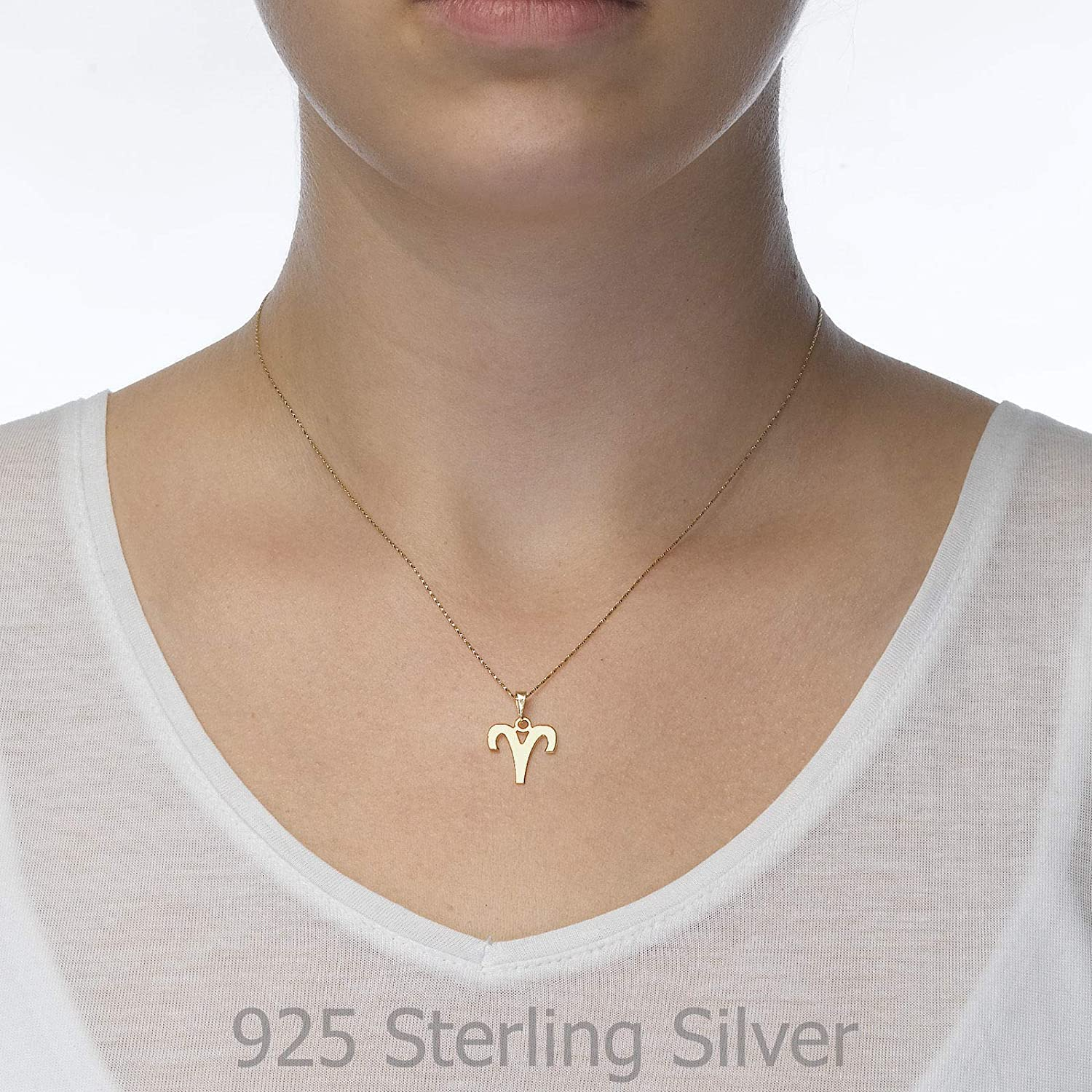 14K Yellow Gold Capricorn Pendant With Necklace
