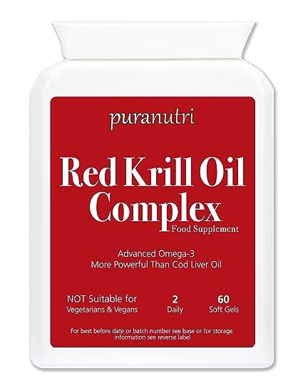 Rojo Aceite de Krill Complejo | 60 Fácil de tragar cápsulas de gelatina blanda Por PURANUTRI