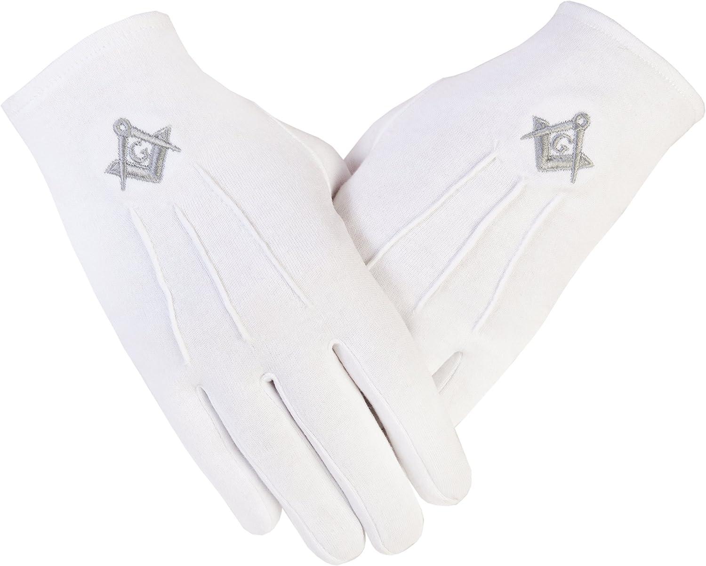 Masonic White Gloves X-Large