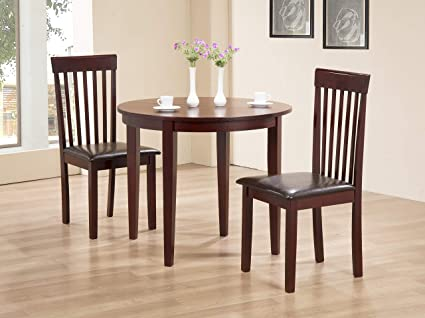 Greenheart Furniture Uk Ireland Lunar Round Extending Dining Table With 2 Upholstered Chairs Mahogany Table 2 Chairs Amazon Co Uk Kitchen Home