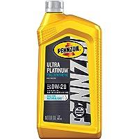 Pennzoil Ultra Platinum Full Synthetic 0W-20 Motor Oil (1-Quart, Case of 6) (550039860-6PK)