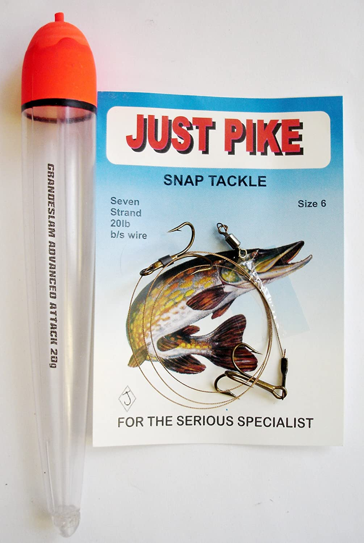 Live Bait Kit Float Pike Dead Wire Trace With 2 Treble Hooks.