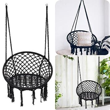 aissimio outdoor hammock chair indoor livingroom hanging macrame rh amazon co uk